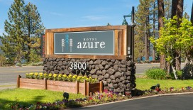 Welcome to Hotel Azure Tahoe, situated with a view of the glistening azure waters of Lake Tahoe.