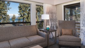 Enjoy the view of the immaculate waters of South Lake Tahoe from our Deluxe One Bedroom Suite.