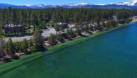 Bask in the views of Lake Tahoe's pristine waters and gorgeous mountains right from your window when you book a room with Hotel Azure.