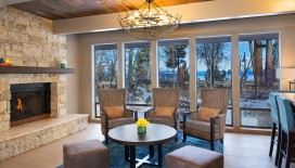 The lobby is a cozy and welcoming place to plan your stay in South Lake Tahoe.