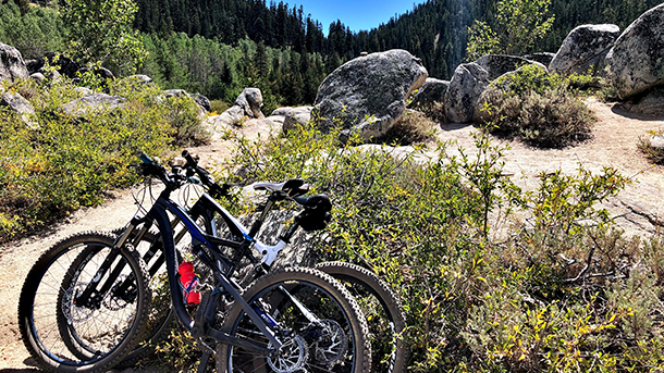 Flume Trail Bikes Parked
