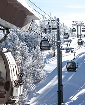 Experience breath-taking aerial views of Lake Tahoe, from the peak of the Heavenly Gondola.