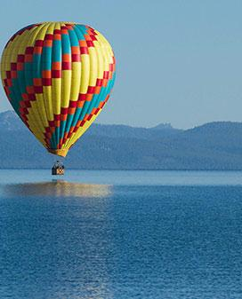Unparalleled views from above on  Lake Tahoe Hot Air Balloons