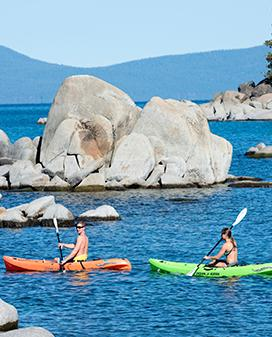 Paddle your way through paradise on a kayak or canoe for two, or one if you prefer