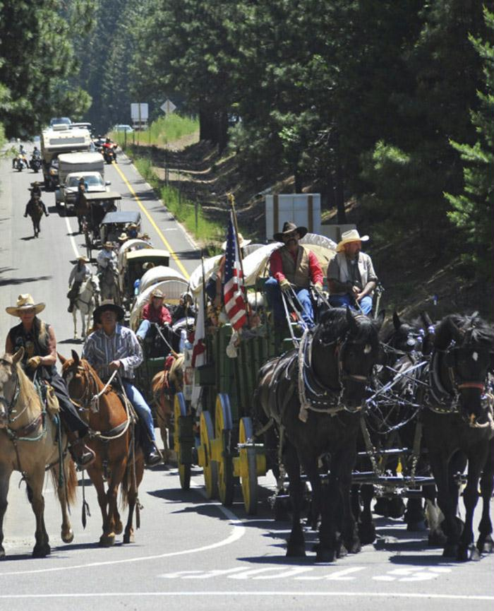 The Hwy 50 Wagon Train is now in its 69th year and is the only bi-state historic event of its kind.