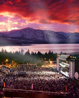 South Lake Tahoe concerts heat up in the summer as the Lake Tahoe Outdoor Arena at Harveys hosts some of the hottest music acts under the stars.